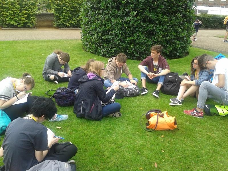 Uczniowie na obozie językowym Londyn Plus