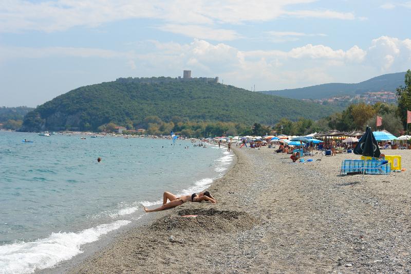 Plaża na obozie językowym w Grecji